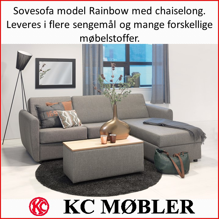 sovesofa model Rainbow med chaiselong