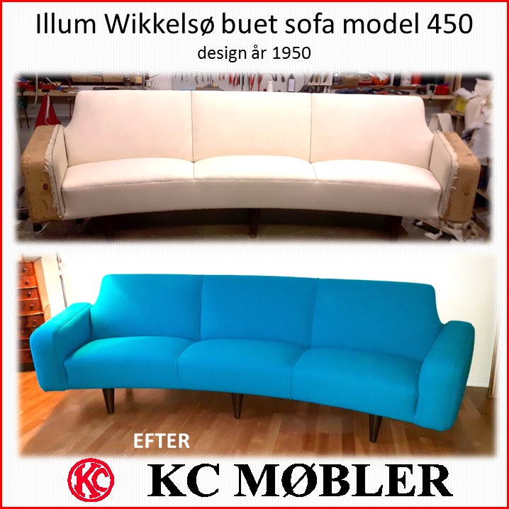 Illum Wikkelsø buet sofa model 450